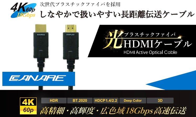 光ファイバーを使ったHDMIケーブル
