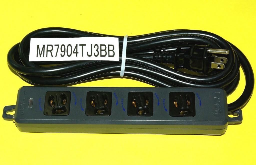黒い電源タップMR7904TJ3BB